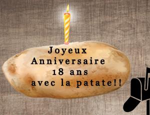 Cadeau original patate anonyme